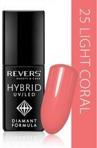 REVERS® Hybrid Nail Polish UV/LED 6ml. #25 Light Coral