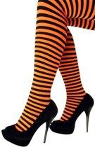Panty streep oranje / zwart