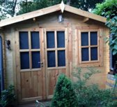 Intergard Tuinhuisje Suffolk blokhut dubbeldeurs - 2x3m