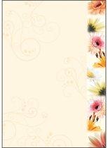 designpapier Sigel A4 90grs pak a 50 vel bloemen
