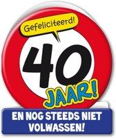 Verjaardagskaart 40jaar Verkeersbord