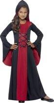 Vampieren kostuum | Jurk + cape | Halloweenkleding maat 152-158