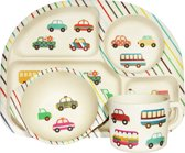 BimBamBoo - Bamboe Kinder Eet Set - Transport