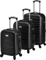 Kofferset 3-delig ultra licht - zwart