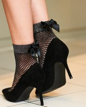 Pretty Polly Fisnet Anklet With Bow