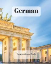 German Composition Book: a college ruled notebook for your exercises, assignments and notes