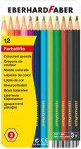Kleurpotloden Eberhard Faber Classic metaaletui a 12 stuks