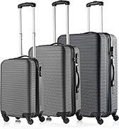 Travelz Horizon - ABS Kofferset 3 delig met cijferslot - Zwart