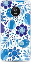 Motorola Moto G5 hoesje Blue Bird and Flowers
