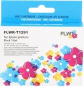 FLWR - Inktcartridge / T1291 zwart - geschikt voor Epson