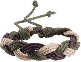 Fako Bijoux® - Armband - Touw - Camouflage