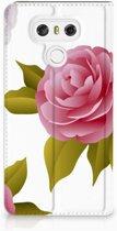 LG G6 Uniek Standcase Hoesje Roses