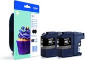 Brother LC123BK - Inktcartridge / Zwart / 2-pack