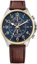 Tommy Hilfiger TH1791275 horloge heren - bruin - edelstaal