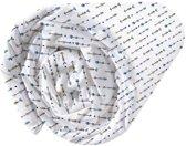 Matt & Rose Petit Indien - Hoeslaken - Eenpersoons - 90 x 200 cm - Wit, Blauw