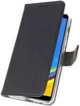 Zwart Wallet Cases Hoesje voor Samsung Galaxy A7 (2018)