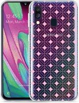 Galaxy A40 Hoesje Geometrisch Pink