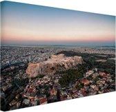 FotoCadeau.nl - Uitzicht op de Akropolis Canvas 80x60 cm - Foto print op Canvas schilderij (Wanddecoratie)