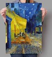 Poster Terras bij nacht - Vincent van Gogh