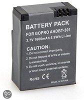 Reserve Batterij met extra hoge capaciteit voor GoPro hero3 & Hero3+