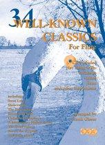 34 WELL-KNOWN CLASSICS voor dwarsfluit + meespeel-cd. <br /><br /> Bladmuziek voor dwarsfluit, bladmuziek voor fluit, play-along, bladmuziek met cd, muziekboek, klassiek, barok, Bach, Händel, Mozart, izis.