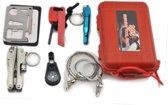 SOS Outdoor Survival Gear Pakket - Tactical Tool Kit Set - Survivalset Met Zaklamp Multitool Kompas Vuurstarter Noodfluit & Meer