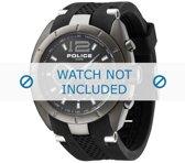 Horlogeband Police P12676JISU-02 Rubber Zwart 28mm