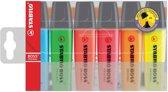 Markeerstift Stabilo Boss Original plastic etui van 6 stuks - 7 pakken
