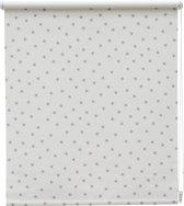 Intensions - Rolgordijn Verduisterend - Dessin -  Ster Wit/Grijs - 60x190 cm