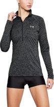 Under Armour Tech 1/2 Zip-Twist Dames Sport Shirt - Zwart - Maat M