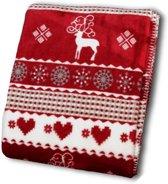 Unique Living Winter - Fleece - 130x160 cm - Rood