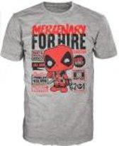 Merchandising DEADPOOL - T-Shirt POP - Mercenary for Hire (M)