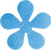 Papillon Glasonderzetters Bloem - Set van 6 Stuks - Blauw