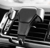 Universele telefoonhouder auto ZWART - ventilatierooster - geschikt voor telefoons tot 6,5 inch