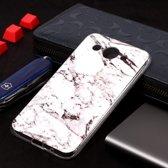 Let op type!! Marmer patroon Soft TPU Case voor Huawei Y3 (2018) (wit)