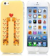 iphone 6 / 6s (4.7 inch) TPU Cover, hoesje, case Giraffe