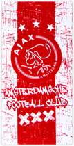 Ajax badlaken - rood/wit