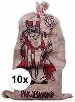 Jute zak voor Sinterklaas - 60 x 102 cm - Sinterklaas cadeauzak / strooizak