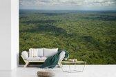 Fotobehang vinyl - Luchtfoto van het groene Nationaal park Manu in Peru breedte 420 cm x hoogte 280 cm - Foto print op behang (in 7 formaten beschikbaar)