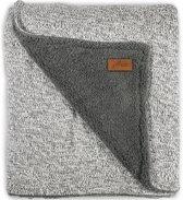 Jollein Stonewashed Knit - Ledikantdeken teddy 100x150 cm - Grijs