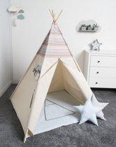 FUJL - Tipi Tent - Speeltent - Wigwam - kinder tipi -  Set Indian 2 - Inclusief asseccoires