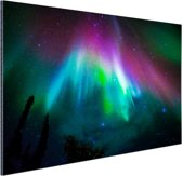 Felle kleuren noorderlicht Aluminium 90x60 cm - Foto print op Aluminium (metaal wanddecoratie)