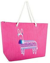 Luna Cove LAMA Strandtas Shopper Canvas Jute Roze Tas