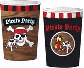 Piraten Bekers 200ml 8 stuks