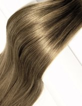 Clip In Hairextensions Bruin/blonde highlights 50cm 100%Echt haar extensions 120gram