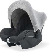 Zonnekapje 0 tot 9 maanden stoel Natural knit grey