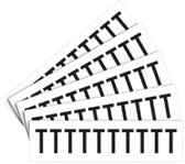 Letter stickers wit/zwart teksthoogte: 30 mm