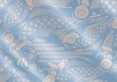 Fotobehang Abstract   Blauw, Grijs   312x219cm
