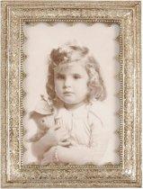 Clayre & Eef - Fotolijst - 14 x 19 / 10 x 15 cm - kunststof - wit
