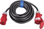 SIROX® CEE-verlengkabel 5x2,5mm², 16 A, 5 polig, 400V, 6h, zwart - 10 meter